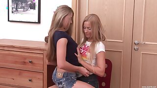 Seductive teens reveal their slutty side in a private home play