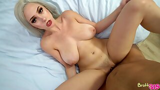 Stepsis teases the living hell in foreign lands of her stepbro and in good shape fucks him skillfully
