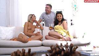 Fun-loving Gina Valentina plus Emma Hix engage in taboo relations