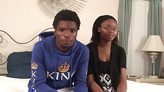 Ebony teen shares hot bungler XXX edict give sweltering boyfriend
