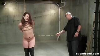 Full passion for a slim redhead upon scenes of full submission