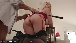 Ass whipped plus tied up during sex for a complete maledom