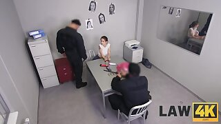 LAW4k. Babe wants back avoid arrest so why satisfies two outcast cops