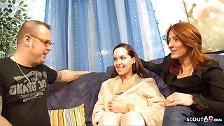 German Mature Couple Has Mischievous FFM Trine with Teen Hooker