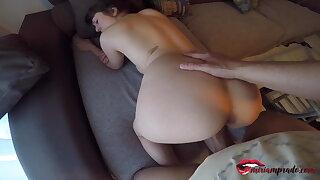 I spy on my naked neighbor & she invites me to fuck – Miriam Prado