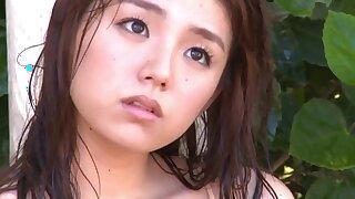 Ai Shinozaki in Guam 2013 Huge Asian Tits Gravure - young Japanese babe outdoors in bikini