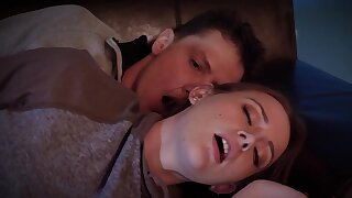 Brunette teen coddle gets banged by say no to stepbrother