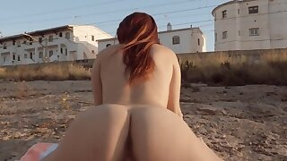 Erotic girl has to pass new boyfriend's test and roger outdoors