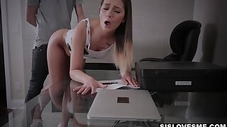 Filled to the gunwales loud indulge round juicy ass Jaye Summers is nailed doggy hard