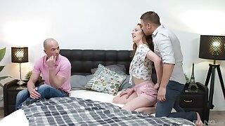 Sweetie plays along boyfriend's desires increased by gets communal