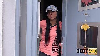 Jobless Adelle Sabelle fucked by the muscled debt collector