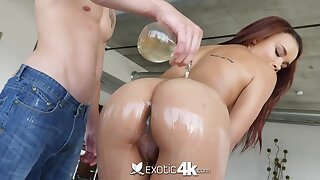Having got lubed busty cowgirl is ready for doggy plus cock riding workout