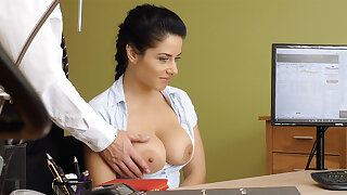 Humungous naturals dark-haired poke anal encroachment for loan approval