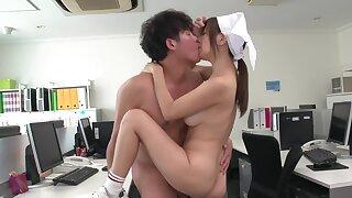 Cute Oriental tolerant Chihiro Akino has sex in an nomination